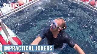 Video Impractical Jokers - Swimming with the Sharks (Punishment) | truTV download MP3, 3GP, MP4, WEBM, AVI, FLV November 2017