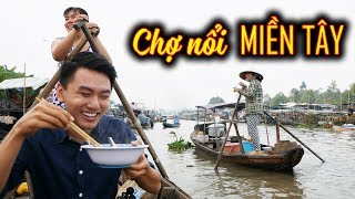FLOATING MARKET FOOD TOUR in VietNam |Chợ Nổi Miền Tây