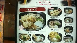 京都駅改札内の麺家「さがの」にて、冷やし鶏天そばをいただく。
