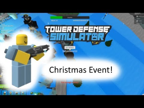 How To Win Christmas Event Tower Defense Simulator Roblox Tower Defense Simulator Christmas Event Roblox Youtube