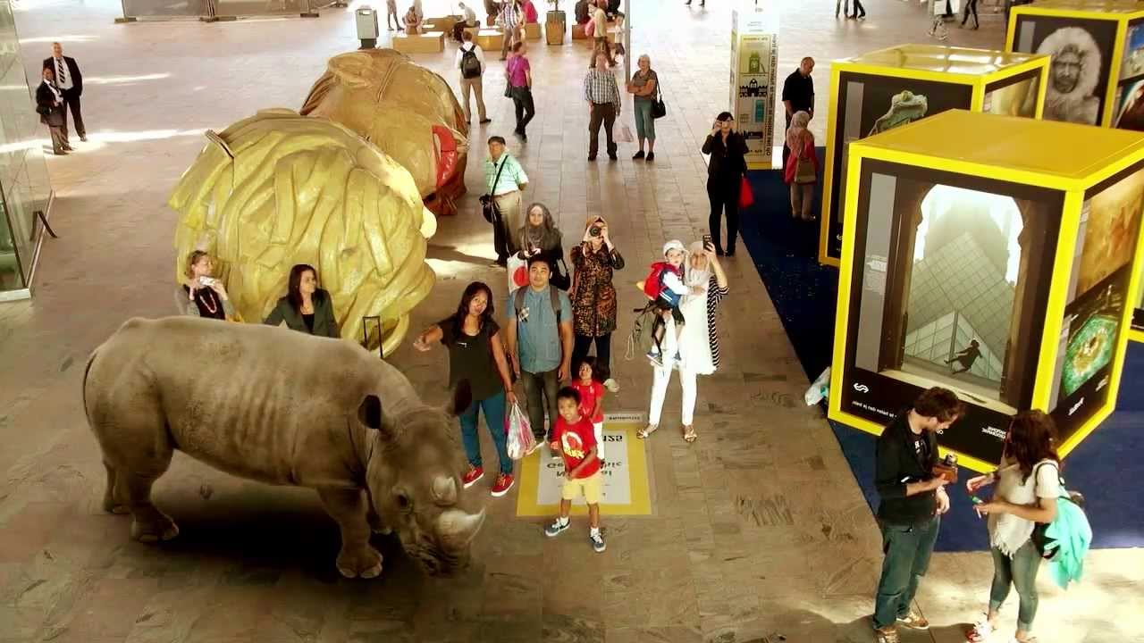 Augmented Reality op Rotterdam Centraal - National Geographic