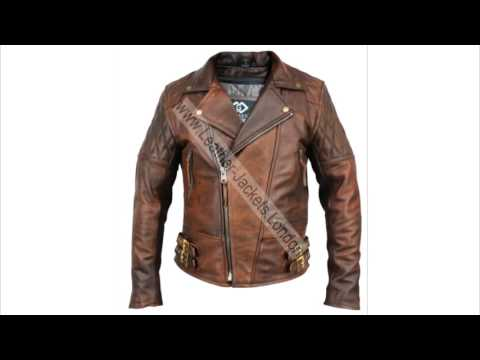 Classic Retro Brown Vintage Leather Jacket - YouTube
