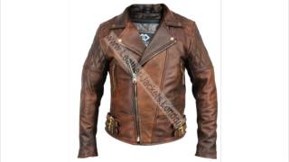 Classic Retro Brown Vintage Leather Jacket