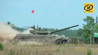 Танк Т-72Б3, белорусская армия, военный полигон