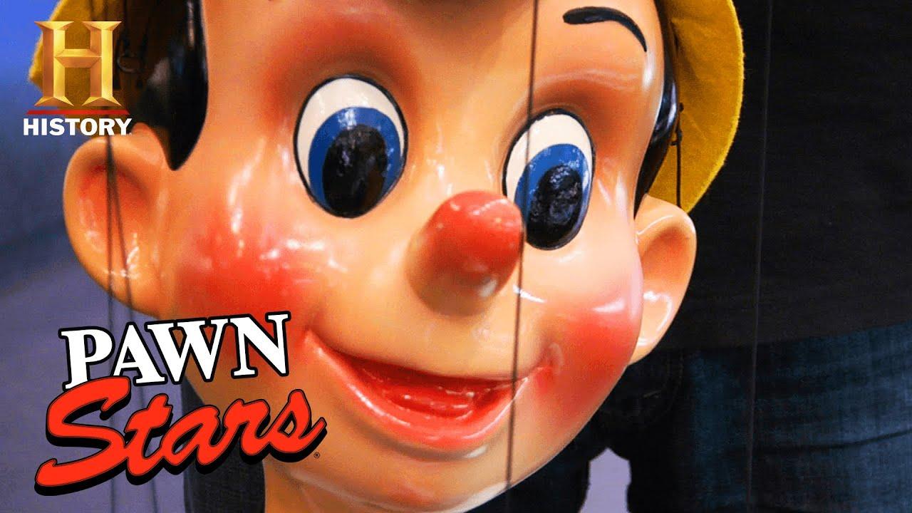 Pawn Stars: BIG PRICE TAG for LIFE-SIZED Pinocchio Marionettes (Season 5)