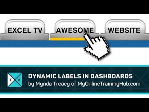 Dynamic Labels - Excel Dashboards Tips - GetPivotData