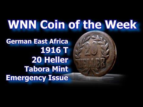 Coin of the Week : 1916 German East African 20 Heller / Tabora Emergency Coins