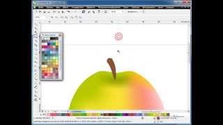 Видео уроки CorelDraw  Инструмент Заливка сетки(Видео уроки CorelDraw, инструмент Заливка сетки, инструмент Заливка, рисование в CorelDraw, векторное яблоко, Автор:..., 2013-11-27T18:17:11.000Z)