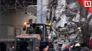 Подъезд рухнул после взрыва газа в Магнитогорске