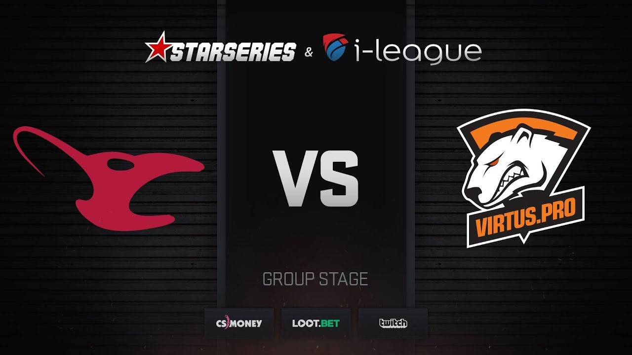 [EN] mousesports vs Virtus.pro, map 1 cobblestone, StarSeries i-League Season 4 Finals