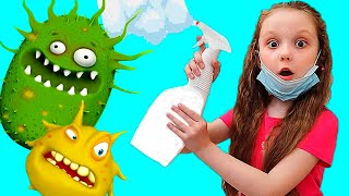 Lisa Pretend Play Wash Your Hands Kids Story | Clean Hands Before Eating and After Playing
