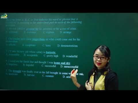 Tiếng Anh lớp 9 – Bài giảng Từ đồng nghĩa và trái nghĩa - Symnonym and Opposite   Cô Thu Oanh