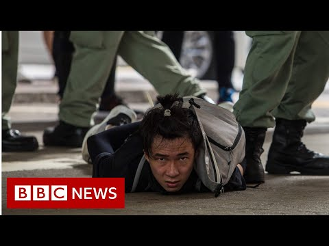Hong Kong arrests dozens as 'anti-protest' law kicks in - BBC News