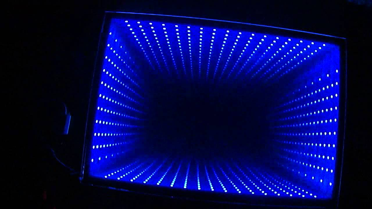 Bathroom infinity mirror youtube for Miroir youtubeuse