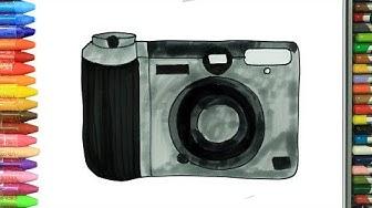 Wie zeichnet man Kamera | Ausmalen Kinder | Kindervideos | Malen und Zeichnen für Kinder