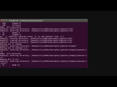 Bitcoin ASICMiner Block Erupter USB CGMINER Setup/ Tutorial Ubuntu