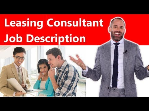 Leasing Consultant Job Description