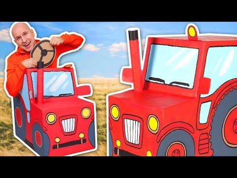 Cardboard Tractor - Cardboard Car Toy - Craft Ideas For Kids | DIY on Box Yourself