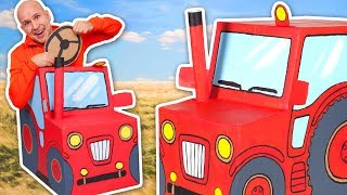 Cardboard Tractor - Cardboard Car Toy - Craft Ideas For Kids | DIY on Box Yourself