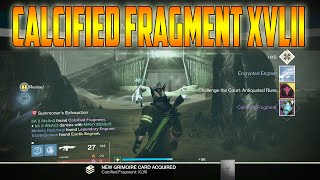 Destiny - CALCIFIED FRAGMENT XLVII LOCATION | Court of Oryx T3