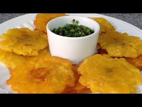 Cómo hacer Tostones o Patacones de plátano verde- Cocinando con Pamela - Episodio 32