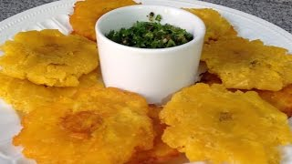 cmo-hacer-tostones-o-patacones-de-pltano-verde-cocinando-con-pamela-episodio-32