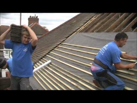 a pitched roof