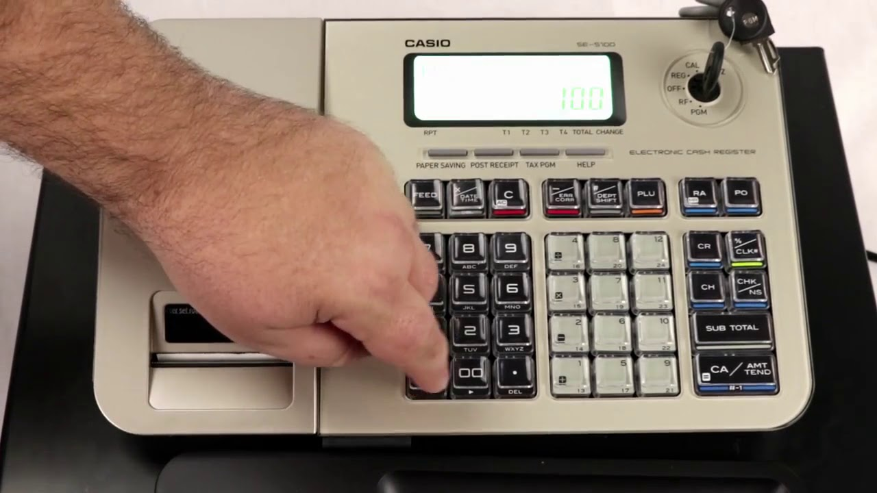 W1 Casio SE-S100 SES100 registratore di cassa Cash Drawer CHIAVE Cash Drawer solo chiave