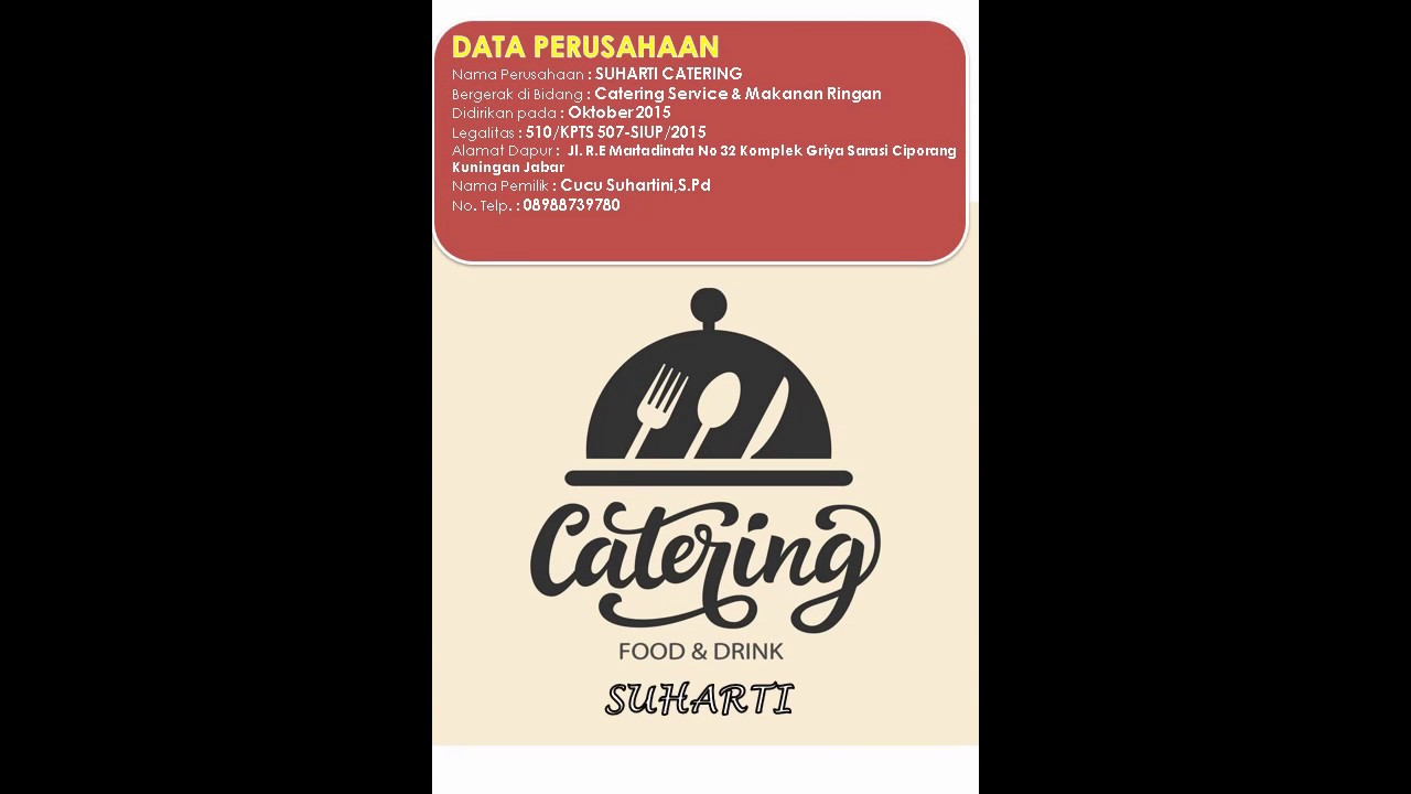 Company Profile Suharti Catering - YouTube