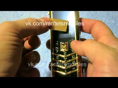 Обзор телефона Vertu Signature S Design gold