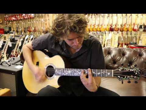 Michael Lemmo playing our Kevin Ryan Grand Cathedral Model at Norman's Rare Guitar