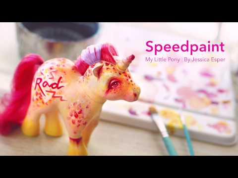 Speedpainting | Custom toy, My Little Pony, vinyl toy, painting, art, acrylic