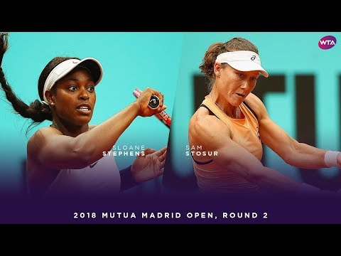 Sloane Stephens vs. Sam Stosur | 2018 Mutua Madrid Open Second Round | WTA Highlights