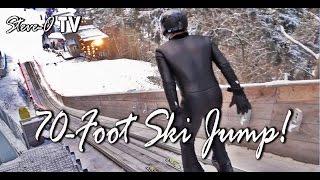 70-Foot Ski Jump! - Steve-O