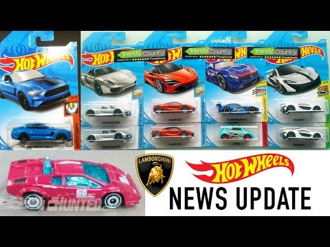 Hot Wheels 2018 Cars! New Lamborghini Countach And More NEWS! 13+