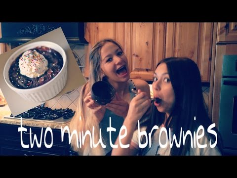 brownies in a mug/ cooking show!