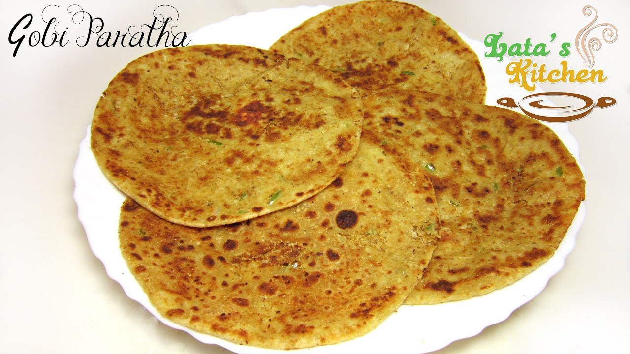 Gobi paratha recipe cauliflower stuffed indian flatbread gobi paratha recipe cauliflower stuffed indian flatbread vegetarian recipe video in hindi youtube forumfinder Image collections