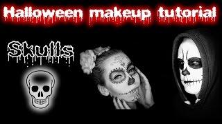 Skulls Halloween makeup tutorial | ♥ Sugar skull ♥ | Lebkouni | Maska lebky
