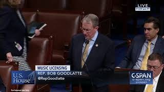 Goodlatte Speaks in Support of Music Modernization Act