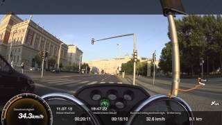 A Short Trip through Vienna with my Moto Guzzi V7II Spezial