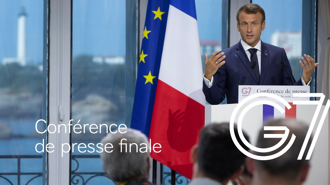 Conférence de presse finale du Président de la République à l'issue du Sommet du G7 à Biarritz