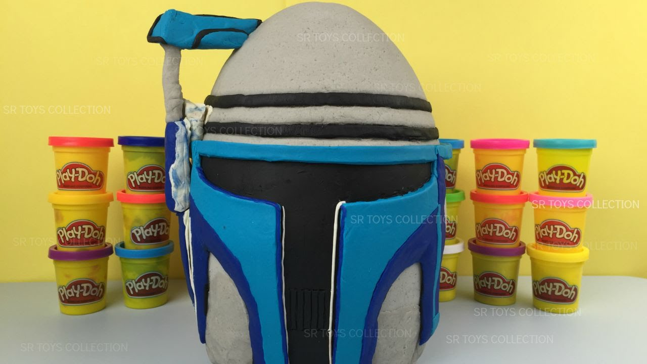 Star Wars Jango Fett Play Doh Surprise Egg - Darth Maul, Luke Skywalker, Obi-Wan Kenobi Battle Droid