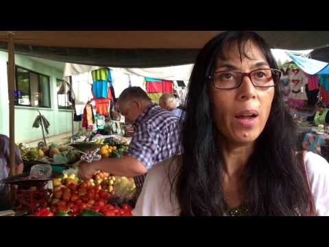 Buying Vegetables and Learning Their Spanish Names at the Market, Ajijic Mexico