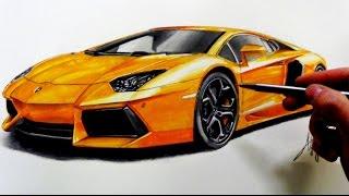 Drawing Lamborghini Aventador(Вконтакте: http://vk.com/cuper_art., 2015-01-24T19:52:25.000Z)