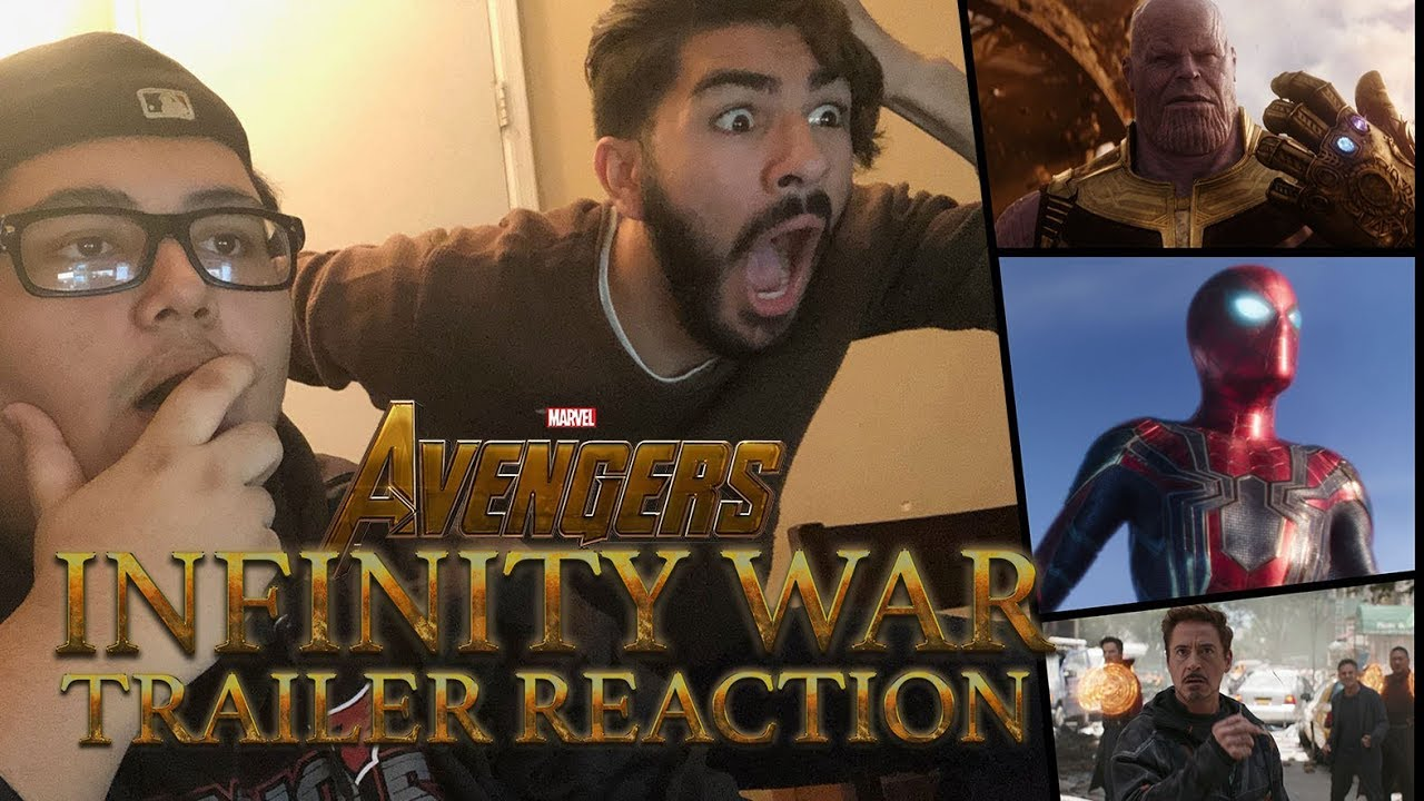 avengers: infinity war trailer loud and epic reaction - youtube