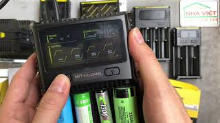 Hướng dẫn sử dụng Sạc 4 pin đa năng thông minh Nitecore SC4