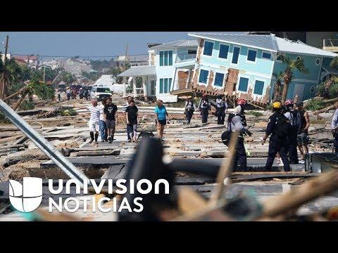 Tras los destrozos del ciclón Michael, los hispanos llegan para ayudar a reconstruir la zona