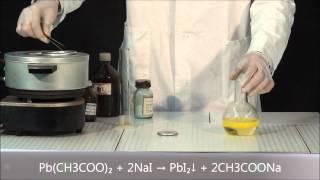 Кристаллизация йодида свинца (II)