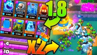 1.8 DECK + DOUBLE ELIXIR?! // Clash Royale