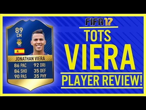 TOTS IS HERE!! FIFA 17 TOTS JONATHAN VIERA 89 PLAYER REVIEW!   FIFA 17 ULTIMATE TEAM